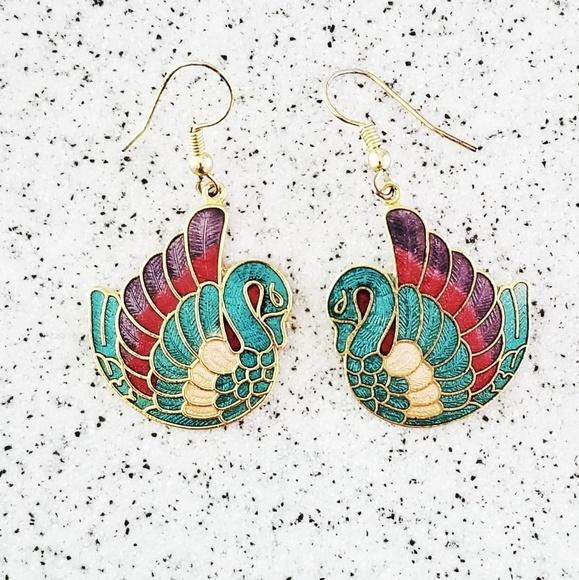 Laurel Burch Jewelry - Vintage Laurel Burch look alike earrings
